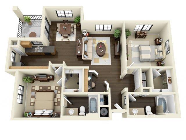 Floorplan at ALARA Links at Westridge Apartment Homes, CA, 91381