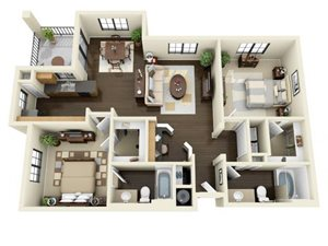 Floorplan at ALARA Links at Westridge Apartment Homes, CA, 91381