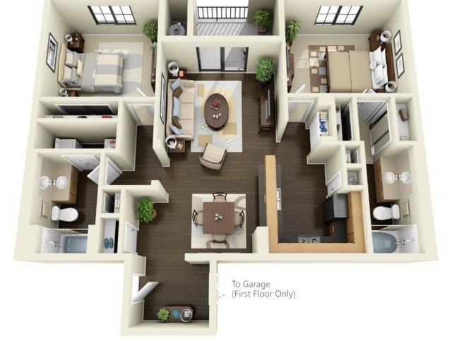 Floorplan at ALARA Links at Westridge Apartment Homes, 25330 Silver Aspen Way, CA