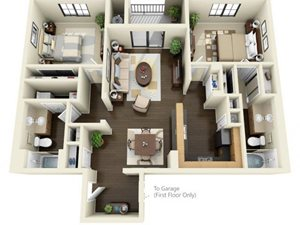 Floorplan at ALARA Links at Westridge Apartment Homes, 25330 Silver Aspen Way, CA