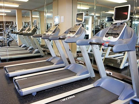Fitness Center with updated equipment at Weston Lakeside Apartments, Cary, 27513