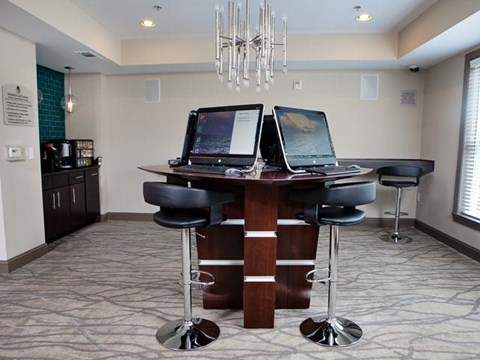 Business Center with Wi-Fi at Weston Lakeside Apartments, Cary, NC
