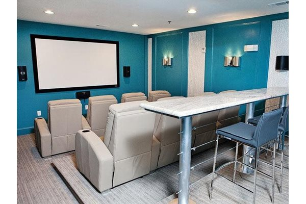 Theater room at Weston Lakeside, Cary, NC