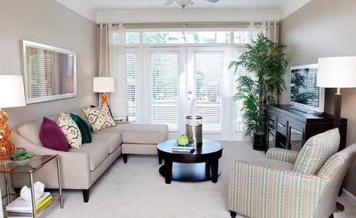 Specious Living Room at Weston Lakeside Apartments, Cary, NC