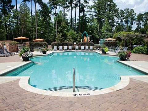 Swimming Pool with Lounge Chairs at Weston Lakeside Apartments, North Carolina, 27513