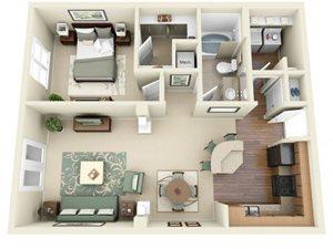 Floorplan at Weston Lakeside Apartments, North Carolina, 27513