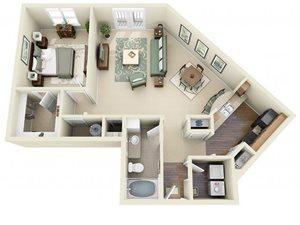 Floorplan at Weston Lakeside Apartments, NC, 27513