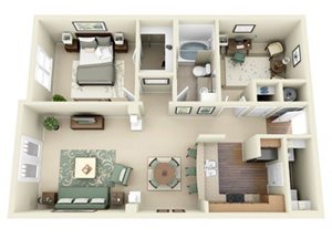 Floorplan at Weston Lakeside Apartments, 1017 Umstead Hollow Place