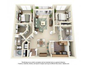 Floorplan at Weston Lakeside Apartments, Cary, NC