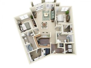 Floorplan at Weston Lakeside Apartments, Cary, 27513