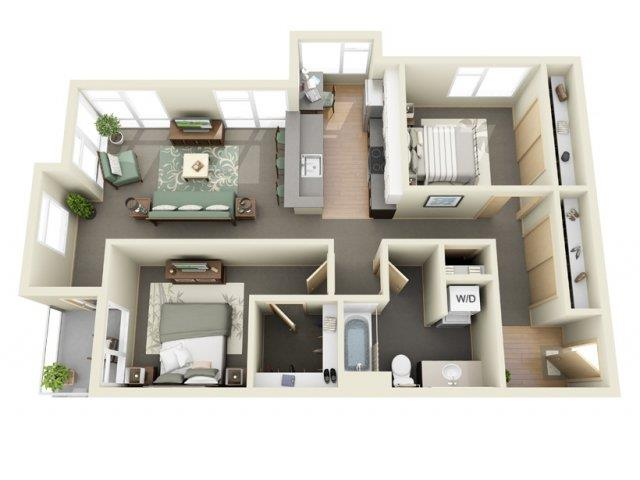 Floorplan at Mural Apartments, 4727 42nd Ave SW