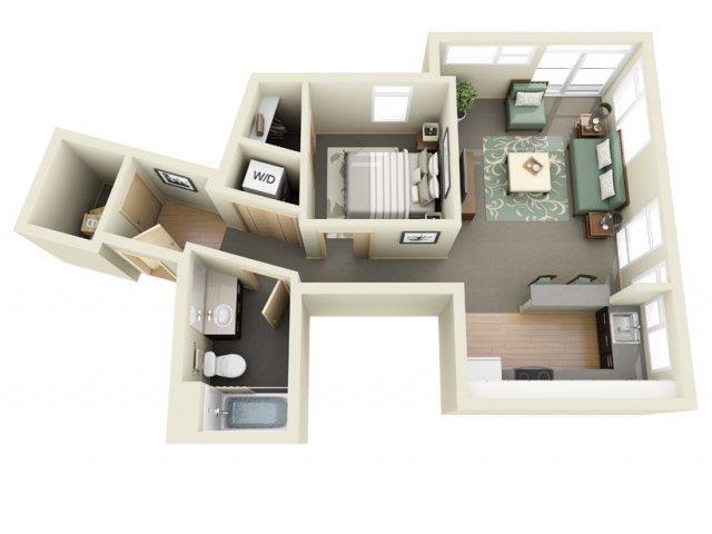 Floorplan at Mural Apartments, Seattle, Washington