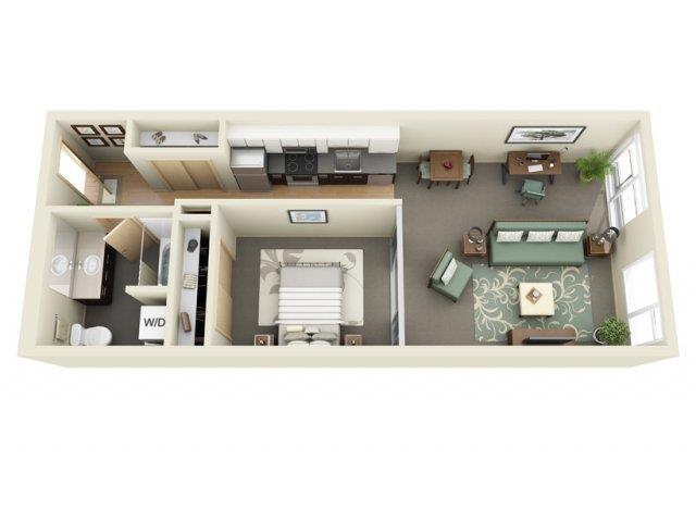 Floorplan at Mural Apartments, WA, 98116