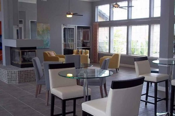 Resident clubhouse lounge area at The District at Clearwater, Clearwater, FL, 33759