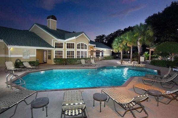 Resort style swimming pool at The District at Clearwater, Clearwater, FL, 33759