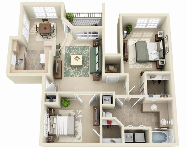The Cypress Floor Plan 4