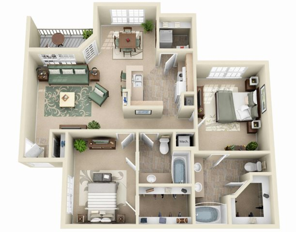 The Oak Floor Plan 3