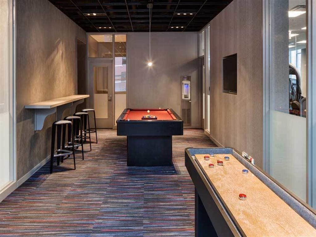 Billiards Room and Game Room for Apartment Residents 805 N. Lasalle Apartments, Chicago