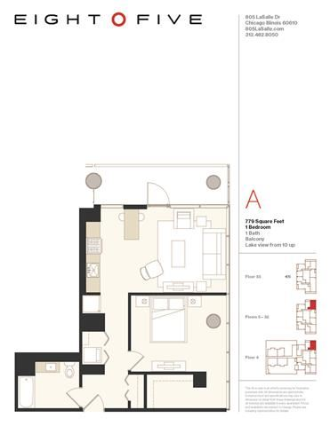 A4E Floor Plan at Eight O Five, Chicago, IL