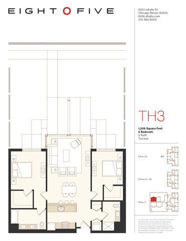 D3TE Floor Plan at Eight O Five, Illinois, 60610