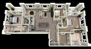 Greystone Floor Plan at Berkshire Main Street, Durham, North Carolina