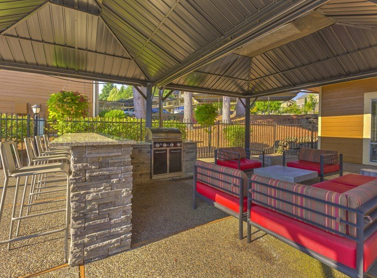 Shaded Pool Seating Area at Montevista at Murrayhill, 14900 SW Scholls Ferry Road, Beaverton, 97007