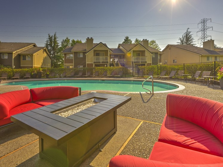 Pool Lounge Area at Montevista at Murrayhill, 14900 SW Scholls Ferry Road, Beaverton, 97007