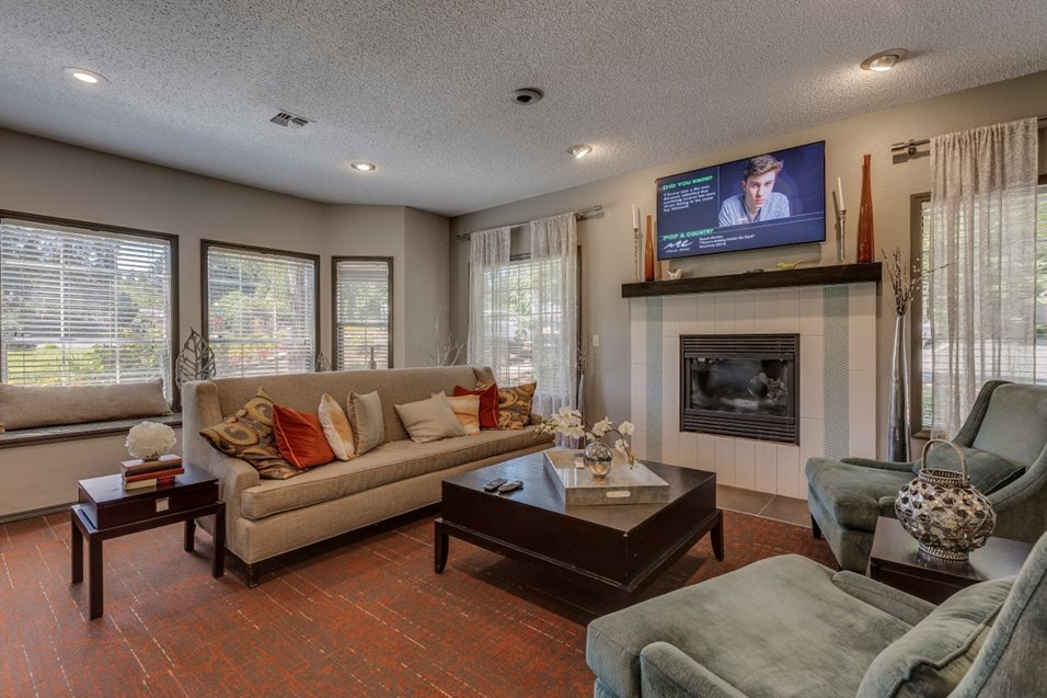 Clubhouse with Fireplace at Cedar Crest, 4800 SW Mueller Drive, Beaverton, OR 97078