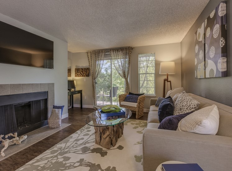 Living Rooms With Over-sized Windows at Cedar Crest, Beaverton, OR