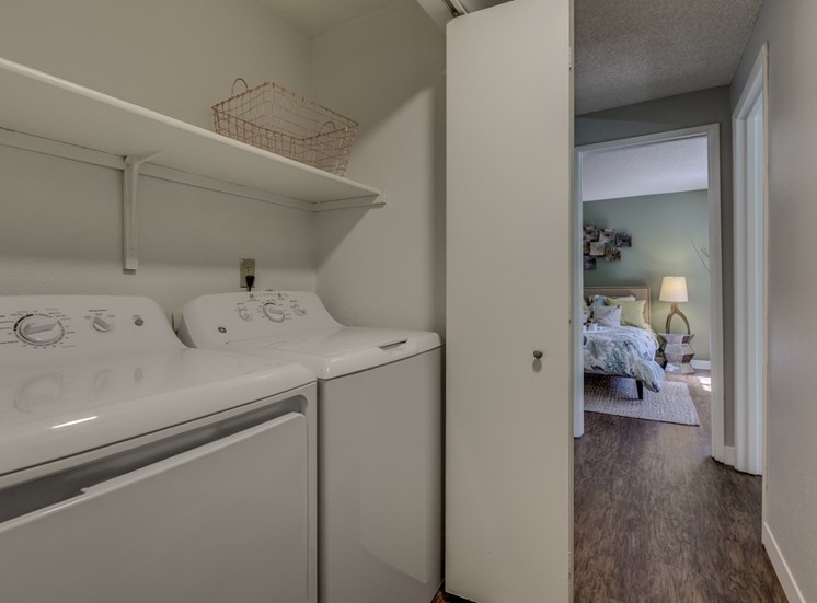 Washer and Dryer in Unit at Cedar Crest, Beaverton, OR