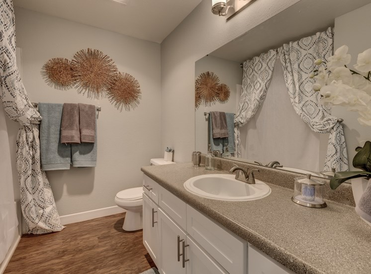 Designer Granite Countertops in all Bathrooms at Cedar Crest, 4800 SW Mueller Drive, Beaverton, 97078
