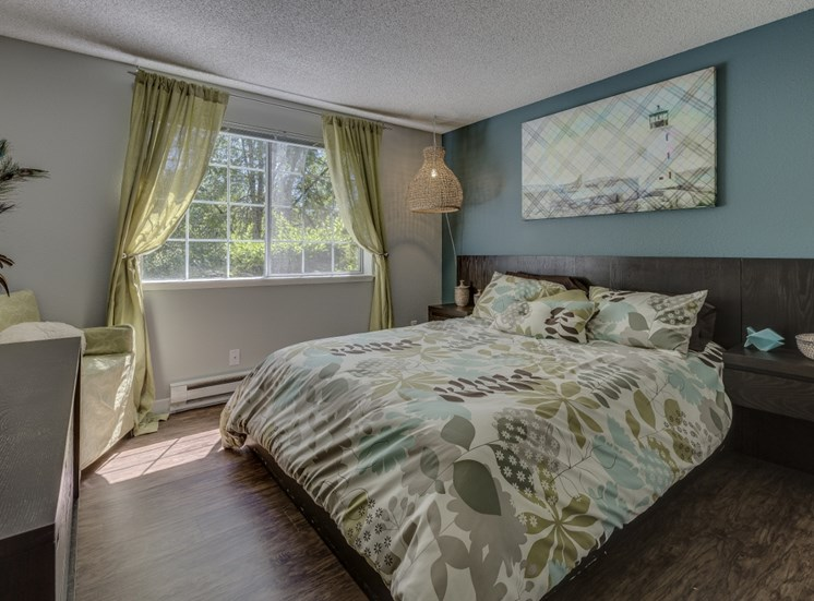 Live in cozy bedrooms at Cedar Crest, 4800 SW Mueller Drive, Beaverton, OR 97078