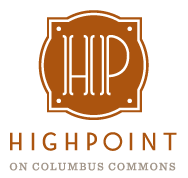 logo, highpoint, columbus commons