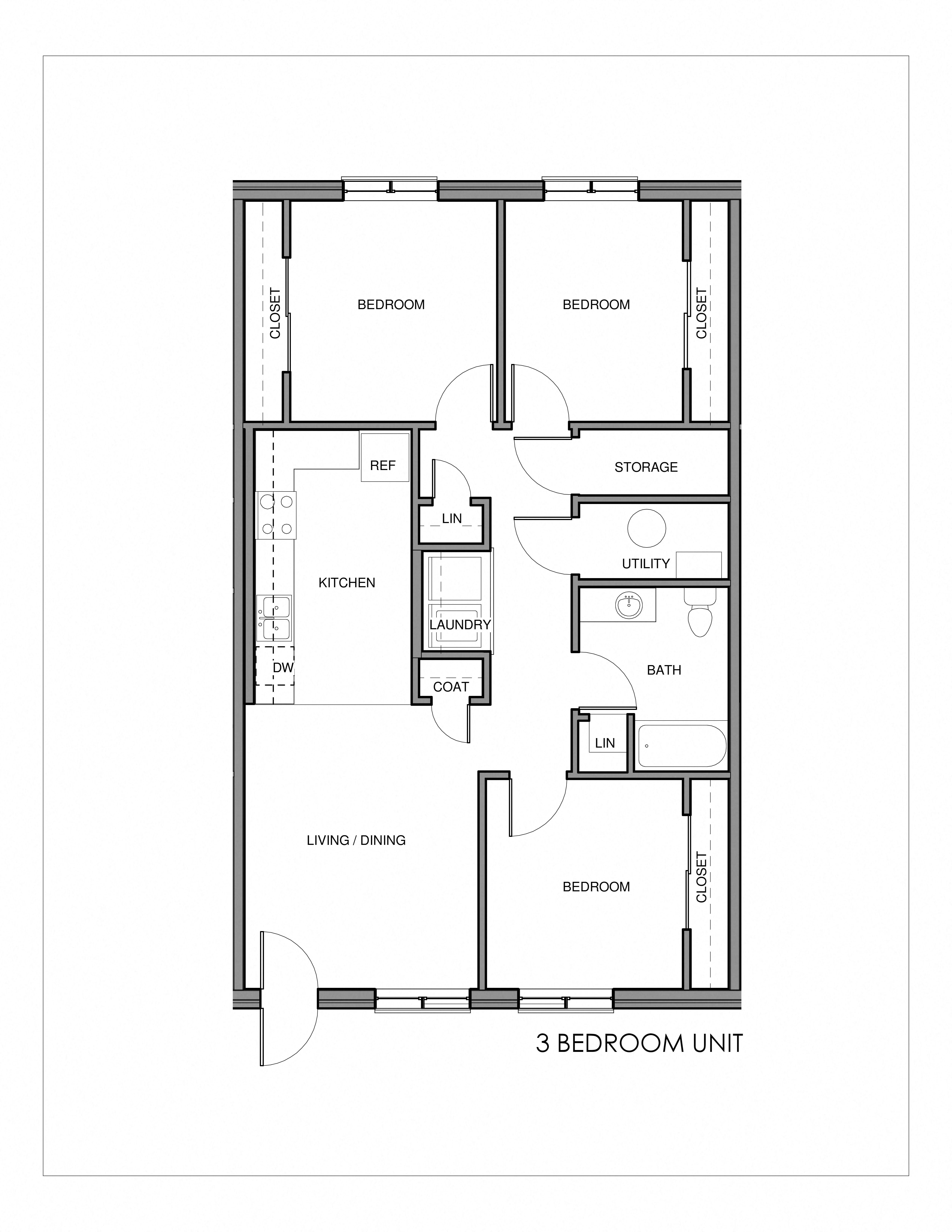 Floor Plans of Southern Pointe Apartments in Spencer, IA