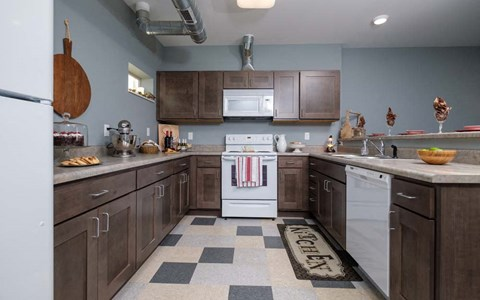 Southern Pointe kitchens include all appliances - even a dishwasher and microwave.