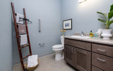 Southern Pointe townhouses include a 1/2 bath downstairs.