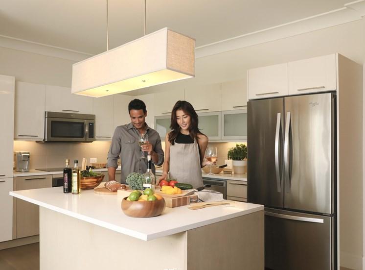 Gourmet kitchen amenitie by Grey House River Oaks