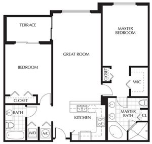 Plan B | Two Bedrooms - 2 Baths