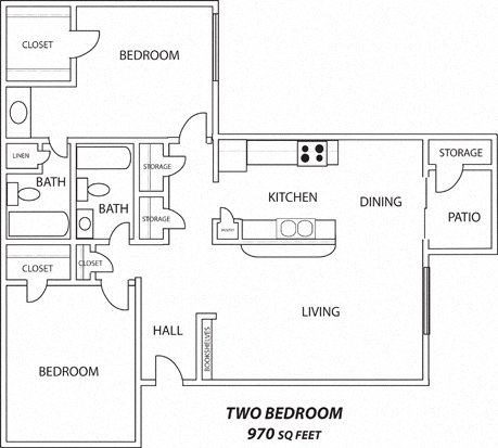2 bed 2 bath - One Bedroom Apartments Lubbock