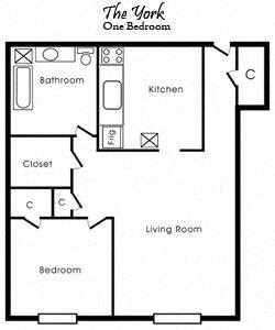 The York (Large One Bedroom)