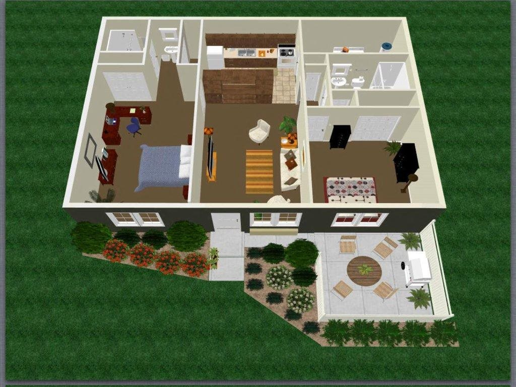 Two Bed Two Bath with Master Bedroom Apartment Floor Plan 5