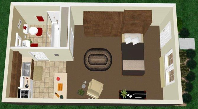 Studio Open Floor Plan 2