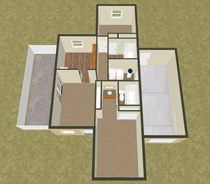 Two Bedroom Two Bath Apartment
