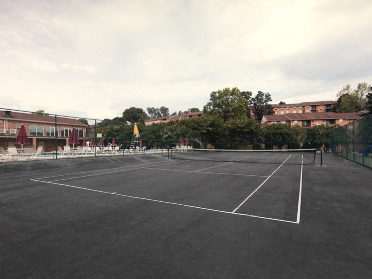 Tennis Court, at Cromwell Valley Apartments, Towson, Maryland