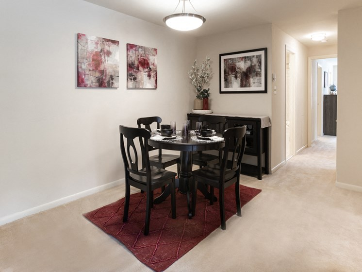 Fully Equipped Dining Area, at Cromwell Valley Apartments, Maryland, 21286