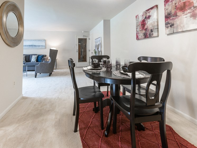 Graceful Dining Area, at Cromwell Valley Apartments, 15 Treeway Court, 2A, Towson