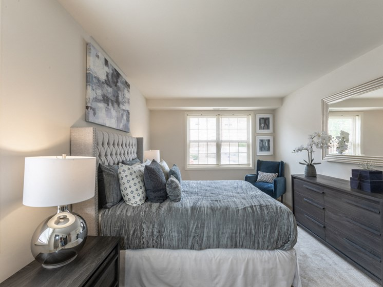 Spacious Bedroom With Comfortable Bed, at Cromwell Valley Apartments, Maryland, 21286