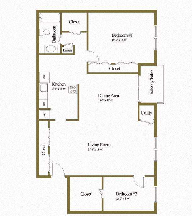 Floor Plans Of Deer Park Apartments In Randallstown, MD