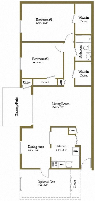 Floor Plans of Painters Mill Apartments in Owings Mills, MD