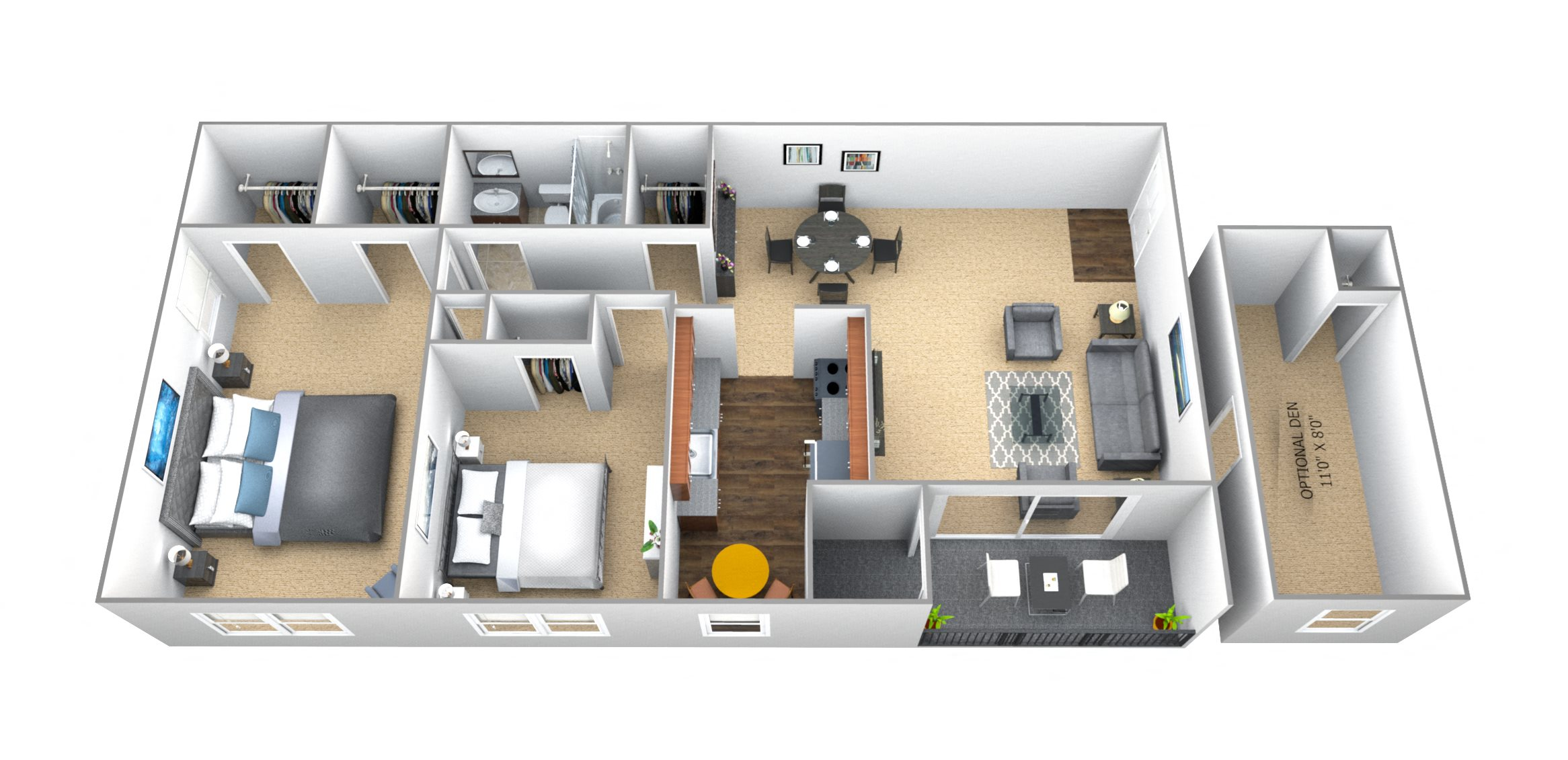 Floor Plans of Seminary Roundtop Apartments in Lutherville, MD